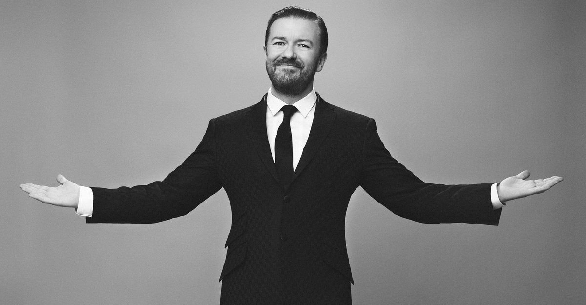 """New this week, comedian @RickyGervais: """"The truth is more devastating than a lie."""" https://t.co/eYsn4V6zNW https://t.co/KduFUPree6"""