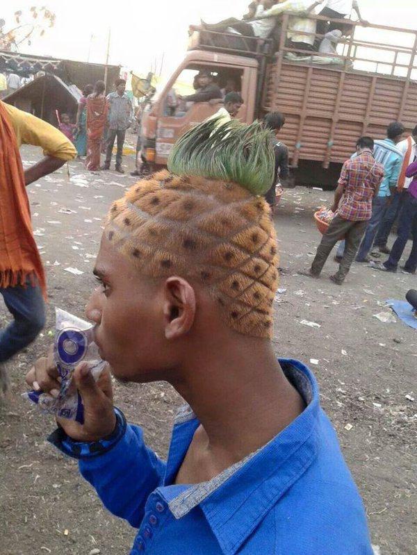 Стрижка ананас