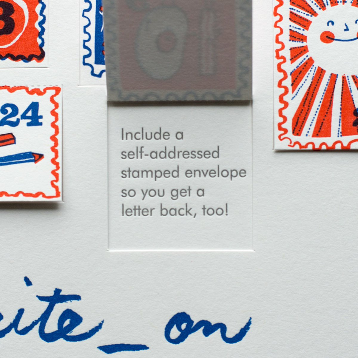 Write_On, Day 6! Include a self-addressed stamped envelope so you get a letter back, too! #write_on #reasonstowrite https://t.co/nZEuXOJkYX