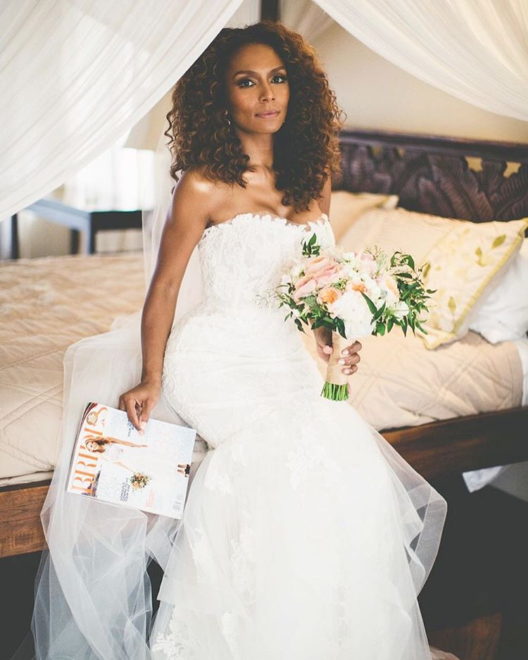 #TBT with @janetmock in #Amsale. See the entire wedding now in @brides https://t.co/aI6PYxSDjV