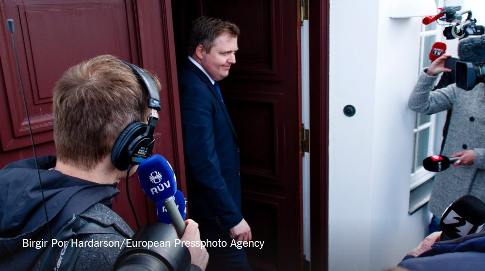 Iceland's prime minister, named in the Panama Papers, says he's not quitting
