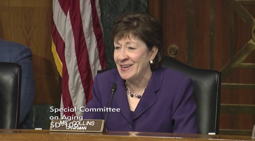 """""""I'll retire this suit when we retire Alzheimer's"""" – Sen.Collins on her purple suit during today's #ENDALZ hearing https://t.co/w4ptt6rBEa"""
