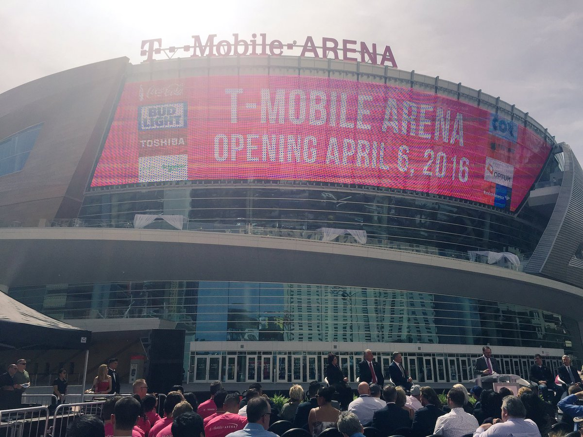 We're so proud to open the new @TMobileArena with our partners @MGMResortsIntl #LIVEatTMA #TMobileArena https://t.co/c5nPI2cbxg