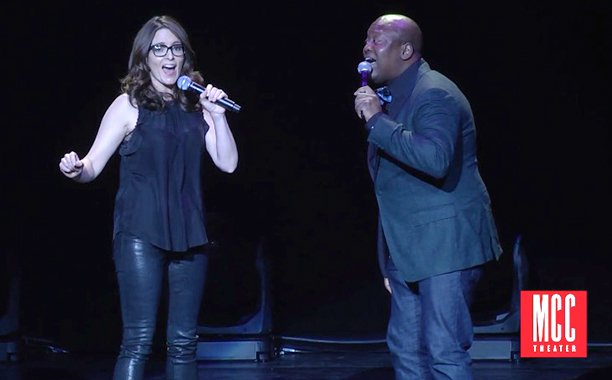 Tina Fey and @TitussBurgess playfully swap insults in this delightful Broadway duet:
