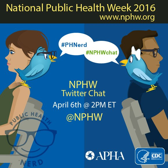 Happening at 2pm ET! Join us for a #NPHWchat with @NPHW @CDCgov and other partners. https://t.co/iciuSio2Zq