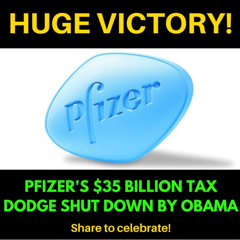 WE DID IT! THANKS 2 our 200k #COURAGEOUS members/partners 4 stopping @Pfizer's corporate #tax dodge. h/t @ATFAction https://t.co/9fsO9BtNhw
