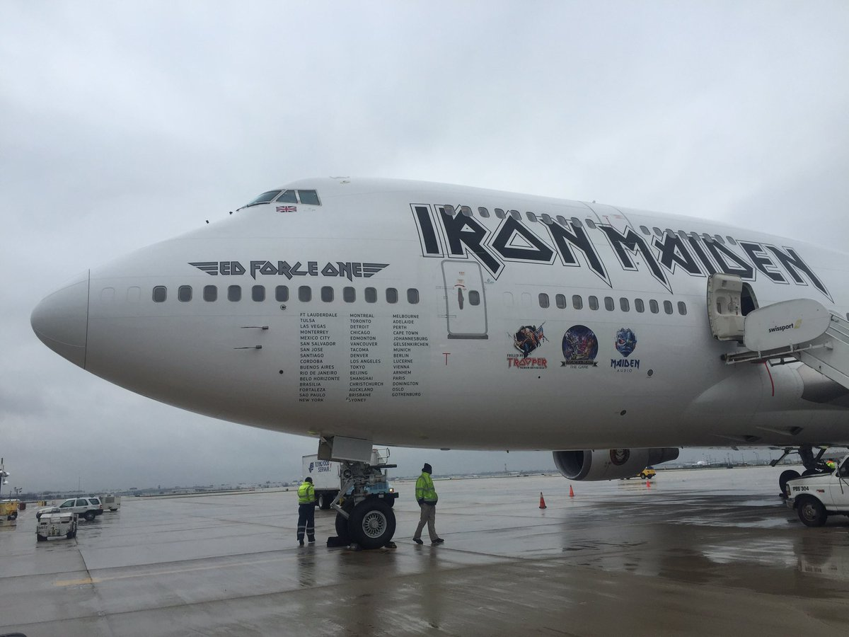 Iron Maiden just arrived at Chicago Ohare @IronMaiden #ORD #Chicago #B747 https://t.co/68I8VkWnCN