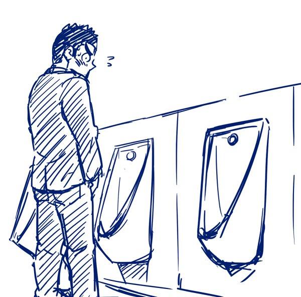 このタイプのトイレなんなの!!ちんこ見えるじゃん!!しかも便器と便器の間についたてもなかったりするじゃん!なんなのハッテン推奨なの!? https://t.co/wX0hrvrjHr