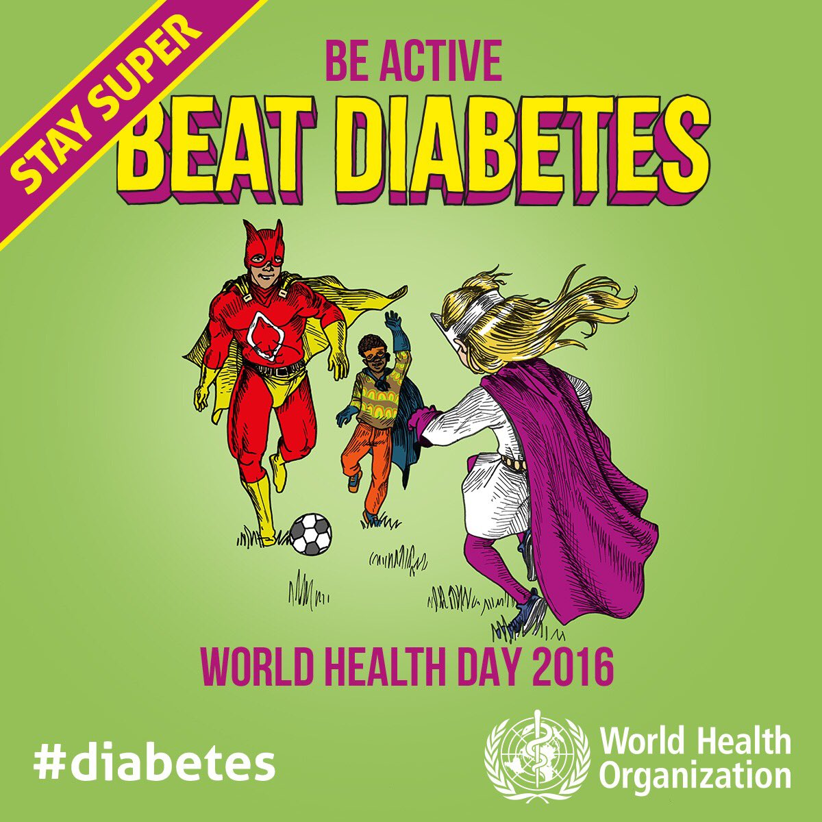 RT @WHO: Today is #WorldHealthDay! Type 2 #diabetes is largely preventable. We can beat it! https://t.co/o6WaIrBtnh https://t.co/rGLy59NneK