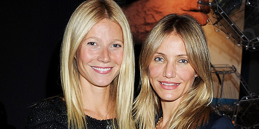 BFFs! Cameron Diaz taught @GwynethPaltrow how to use a blow dryer via @People_Style