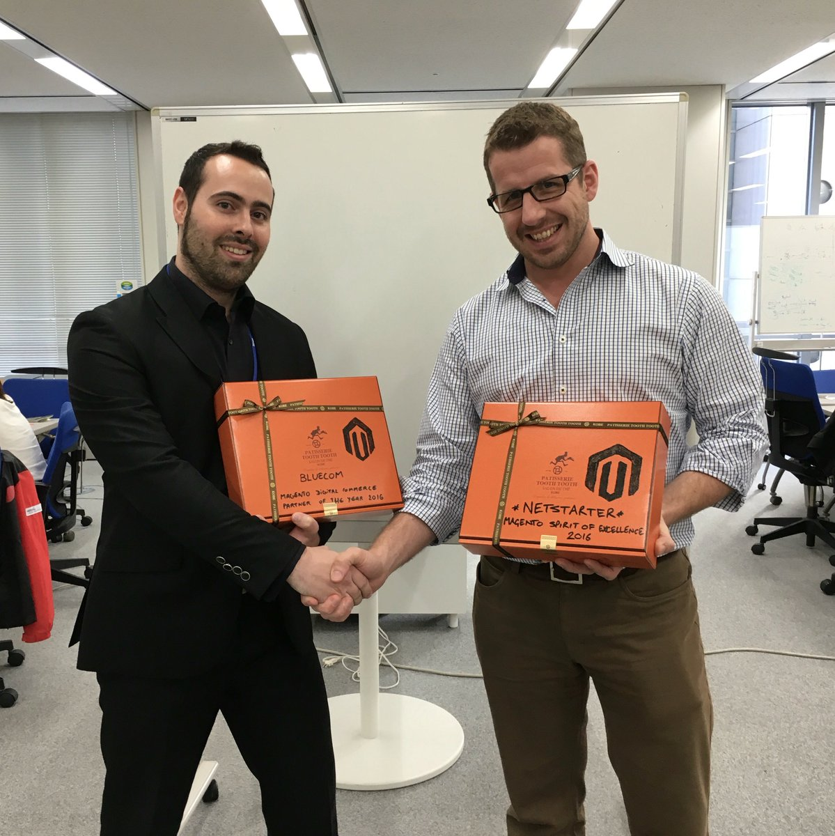 benpopps: Meanwhile in Japan @Netstarter & @BluecomGroup working together and pleased with respective #magentoimagine awards https://t.co/JofiBSinXk