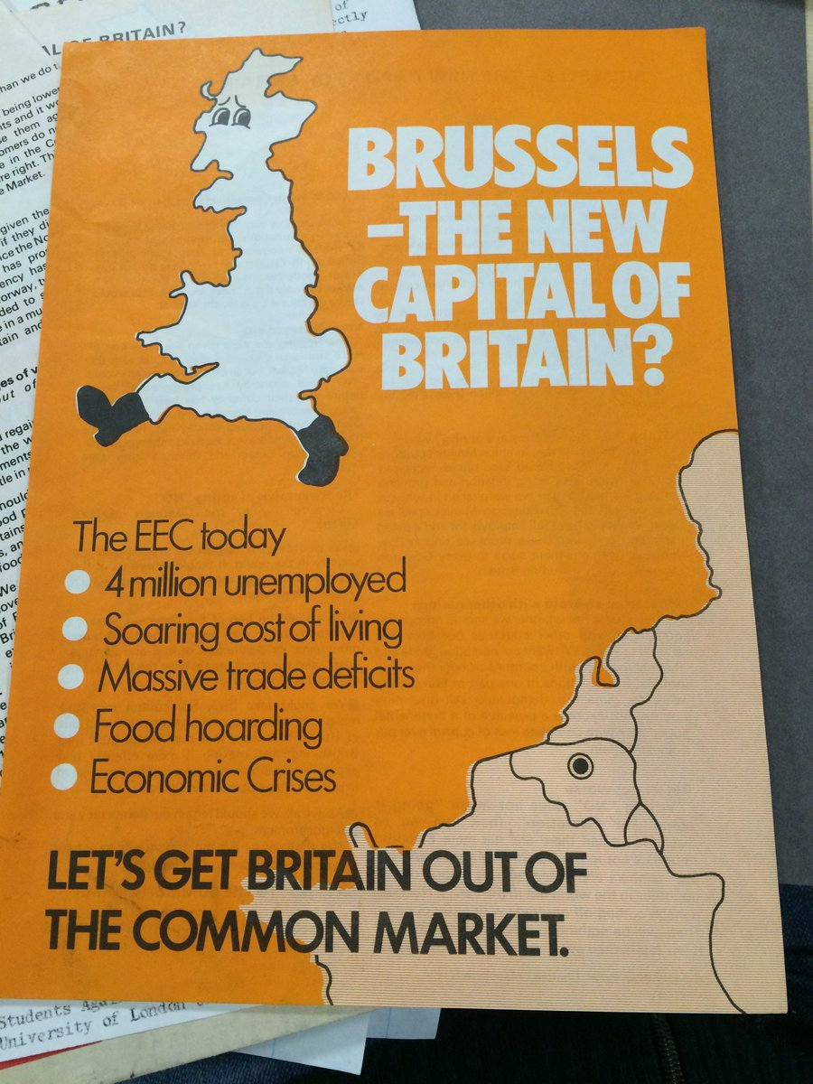 And here's an anti-EU leaflet from the Liberals in 1975 https://t.co/aK4jfJIade