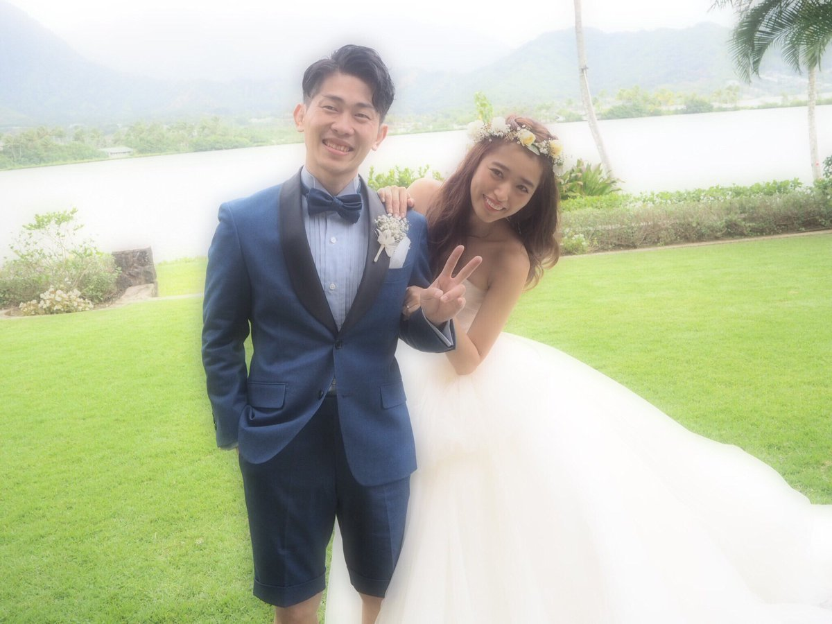 太田さん、近藤千尋ちゃんの結婚式。 二人が幸せなところ見ると一緒に幸せだよ…