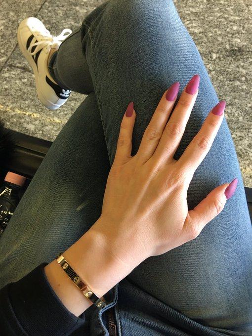 Love my new purple matte finish nails https://t.co/nM6UiREx8J