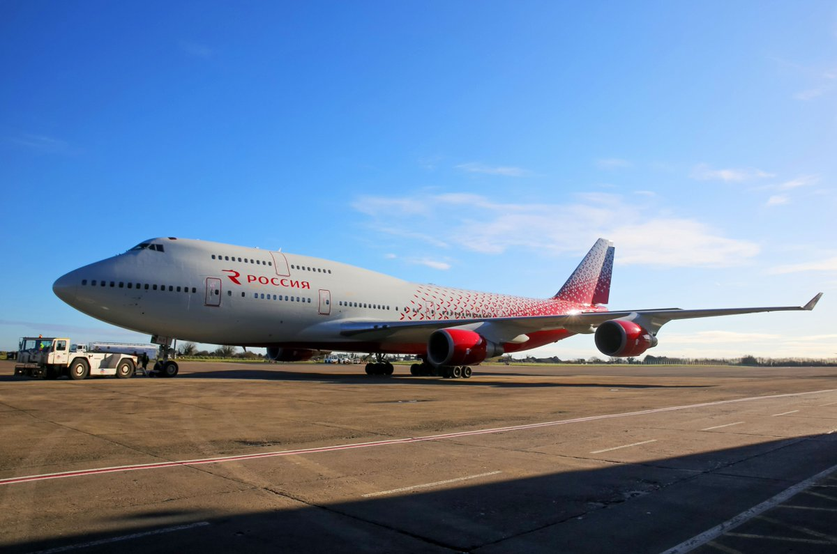 Самолет Boeing 747, который первым получил новую ливрею, пополнил парк нашей авиакомпании! #авиакомпанияроссия https://t.co/jQ62qMhqIh