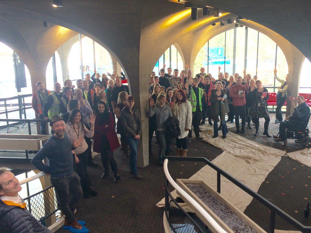 Today we officially take back our theatre! We've gathered in the foyer to celebrate https://t.co/EnF6P8MyXX