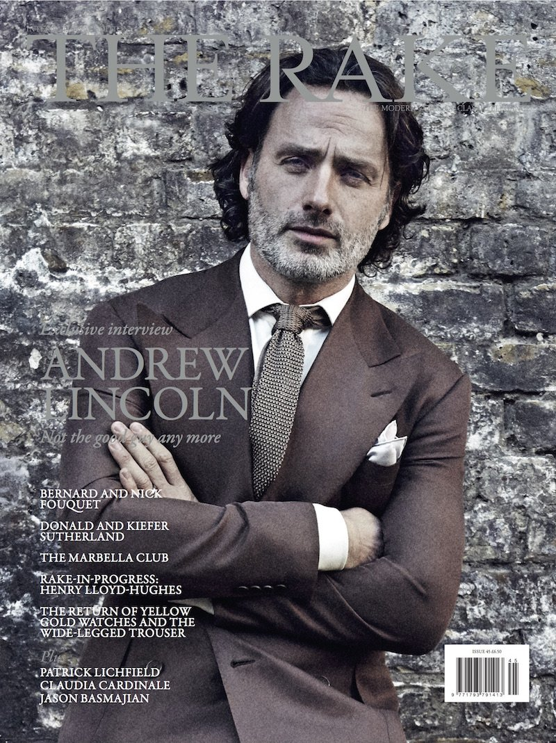 Issue 45 is out today on newsstands, featuring an exclusive interview with our cover star Andrew Lincoln...  #Rakish https://t.co/bZ1E8588nq