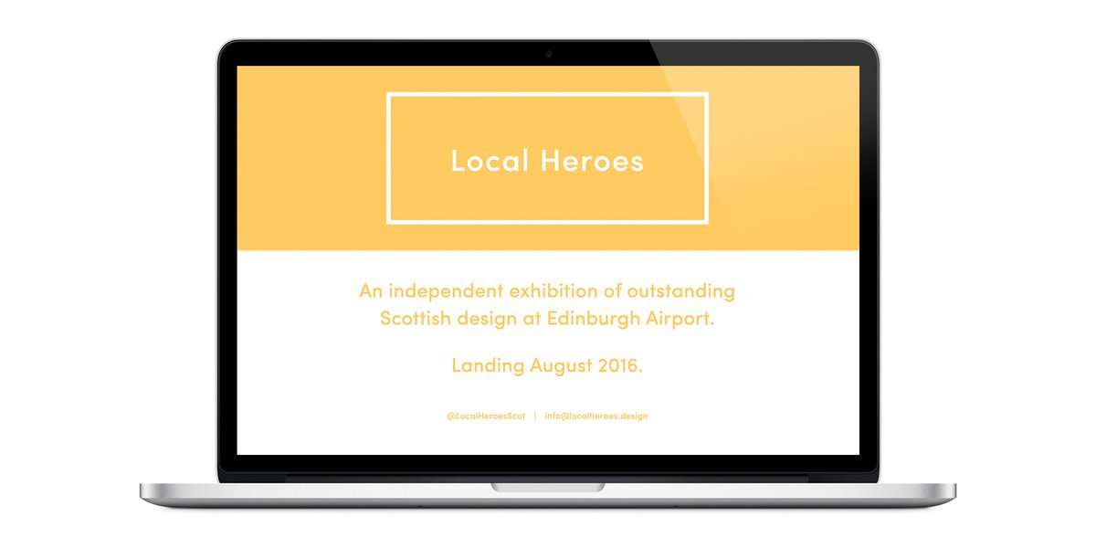 RT @LocalHeroesScot: Our project is live! 🙌 Scottish Design @EDI_Airport w/t @CreativeEdin @Creative_Dundee ✈ https…