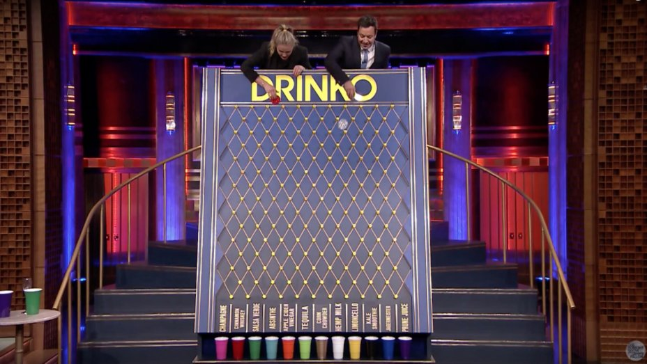 Cameron Diaz and Jimmy Fallon Consume Weird Mixed Beverages While Playing
