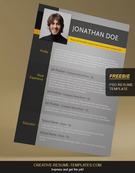FREEBIE: Modern resume template, get yours for free at
