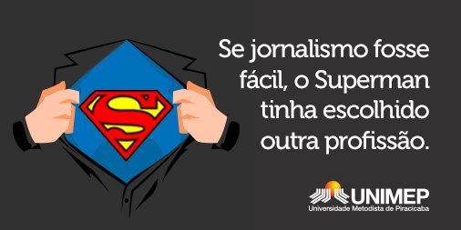 Parabéns a todos os jornalistas pelo seu dia! ;D #superman #clarkkent #cursodejornalismo #ensinosuperior #profissões https://t.co/C2DBsJWNw0