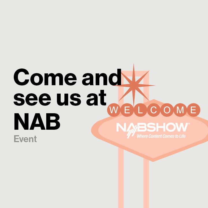 Come see us at #NABShow in Las Vegas. We'll be at booth SU3605! #FutureMaker https://t.co/D0FxLwzso7 https://t.co/OWzllLNBlV