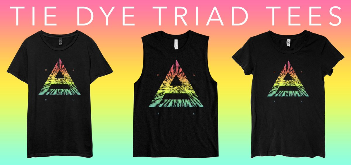 RT @MARSStore: Get festive just in time for Spring with the new Tie Dye Triad, available on 3 Cuts! | https://t.co/O8ipTnhroB https://t.co/…