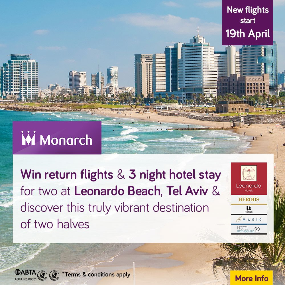 WIN a getaway to Tel Aviv... A cosmopolitan city with sandy beaches & chic restaurants!