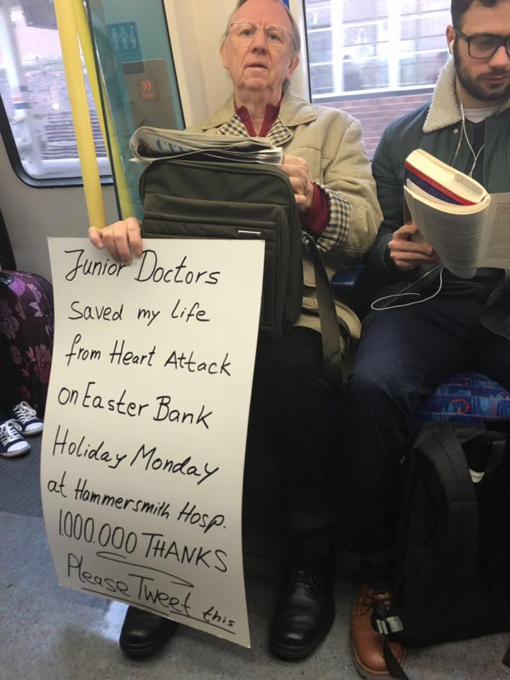 Just saw this shared on Facebook. Junior Doctors ROCK. Support & solidarity. Fight the good fight. #SaveOurNHS https://t.co/GnrSHydrlf