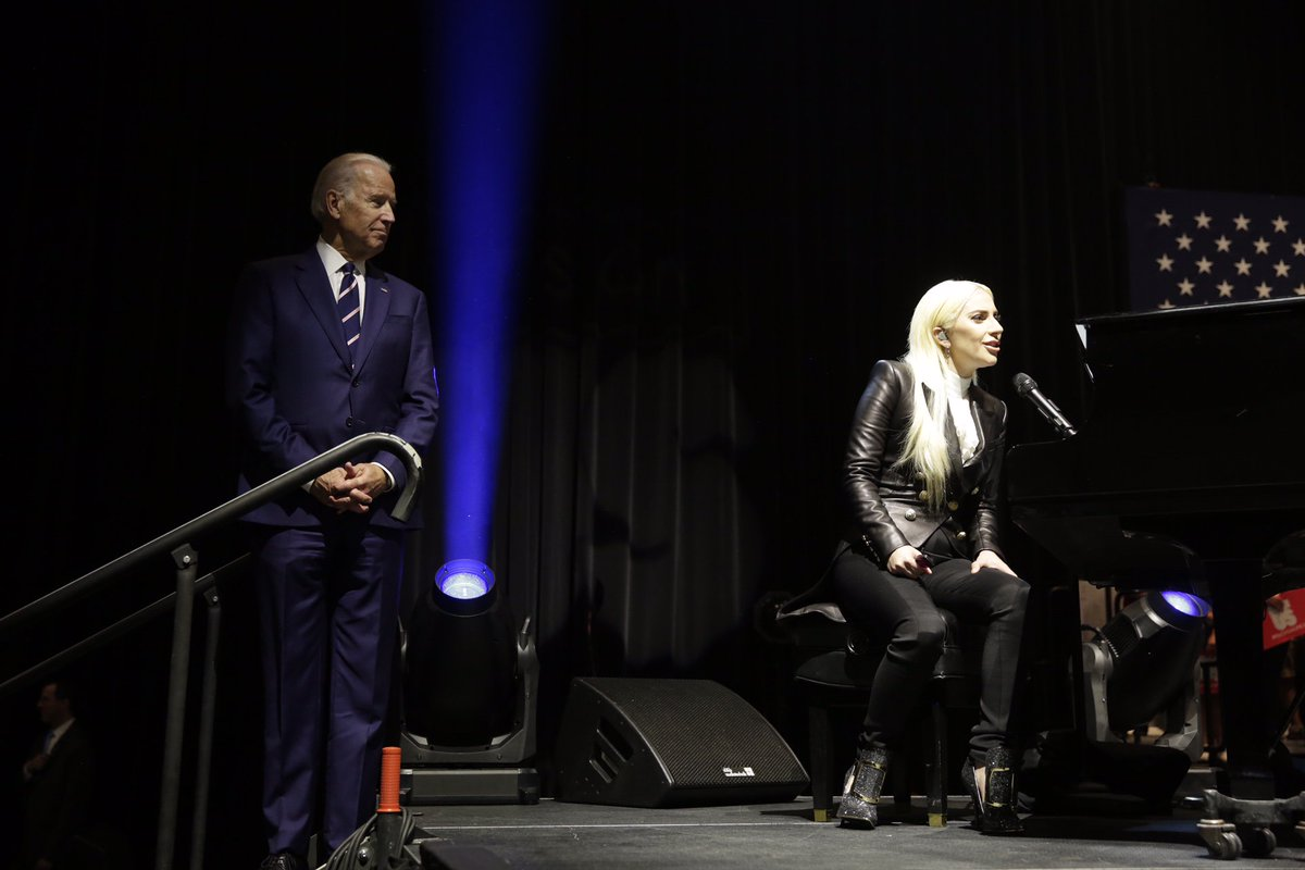 """RT @VP44: From me, and all the """"little monsters"""" at @UNLV -- always inspired by @LadyGaga. https://t.co/Di7cjDm82P https://t.co/N9QcwwpQRc"""