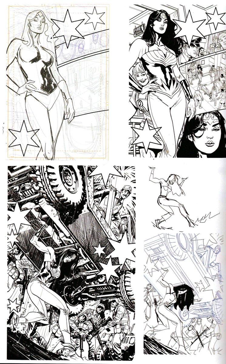Sketches from the Wonder Woman Earth One sketchbook. #WonderWoman #WonderWomanEarthOne https://t.co/AAdc3VHbbY