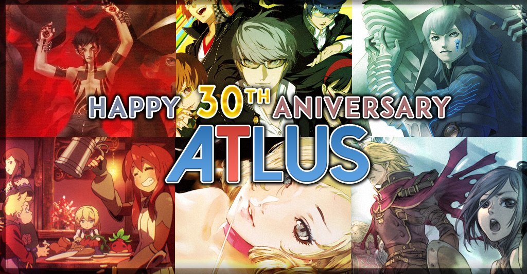 Happy 30th Atlus!  Making games since 1986 and they're still amazing at it. Do you have a favourite game from them? https://t.co/mgBDjAgsBy