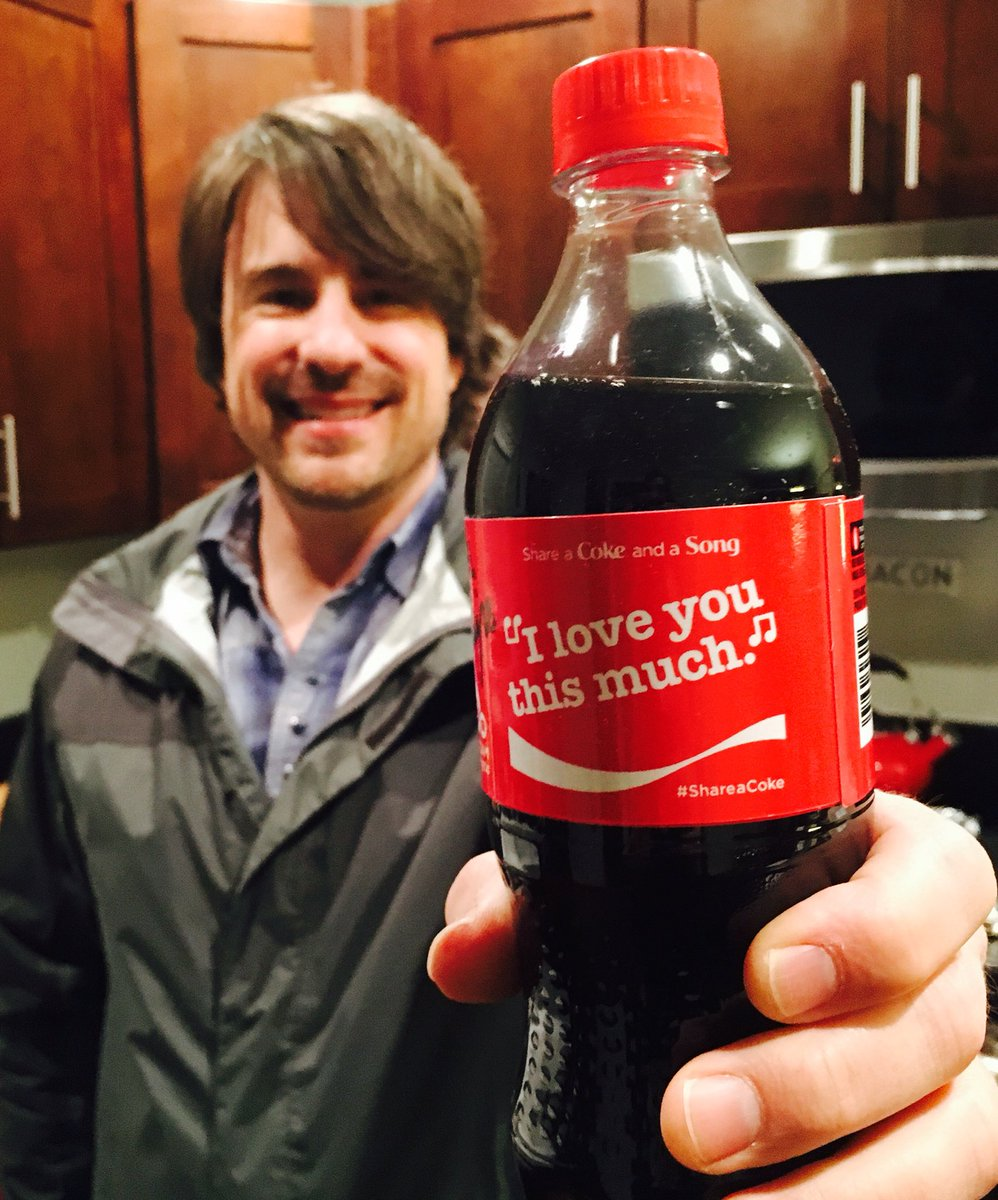 Here's my song on the Coca-Cola bottle ! You'll see this on shelves soon! Unreal! https://t.co/5XrC7Jhrll