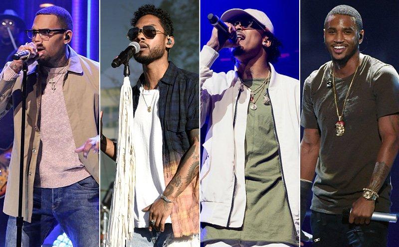 August Alsina Trey Songz Chris Brown
