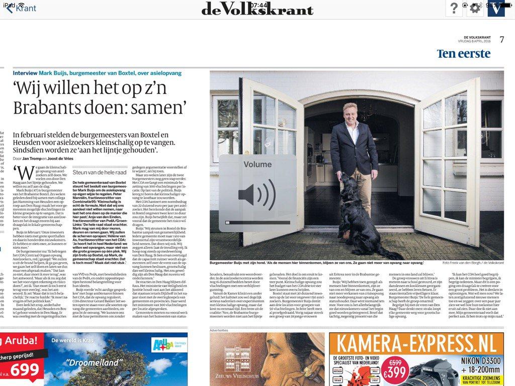 Trots op #Boxtel en gemeenteraad Blij met burgemeester! https://t.co/Si6hizV9SD