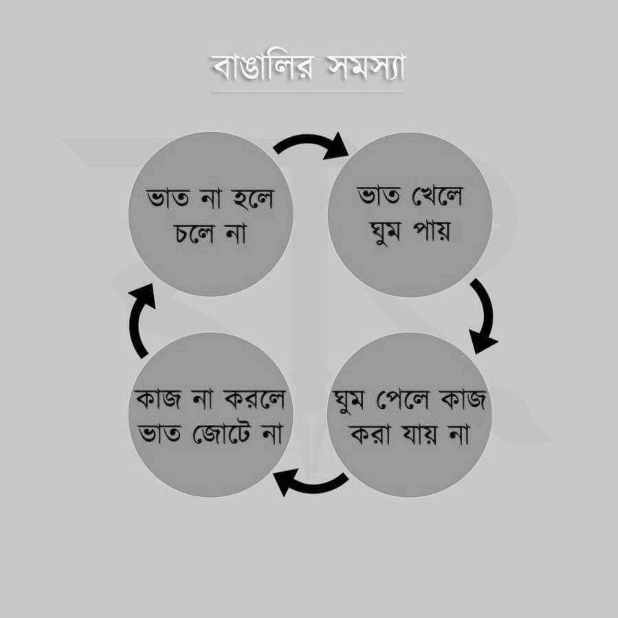 The bhishon bhicious Bhaat cycle of an everyday Bangali, anywhere/everywhere in the world. Gets phishy at times, too https://t.co/LMpW85L3G2