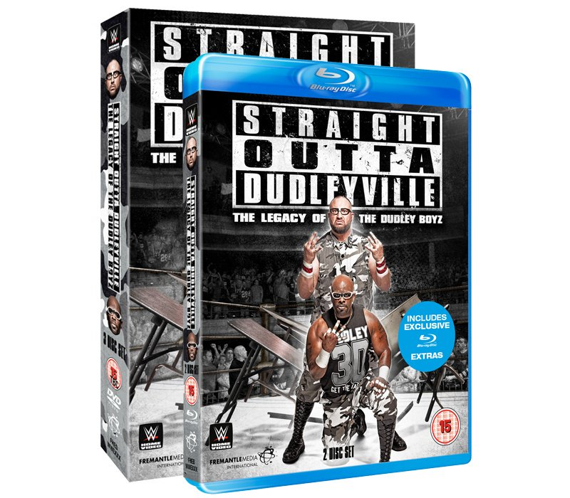 #WIN Straight Outta Dudleyville - The Legacy of the Dudley Boyz on Blu-ray! Follow & RT to enter 3 winners - 22/04 https://t.co/QdUQ0npm08