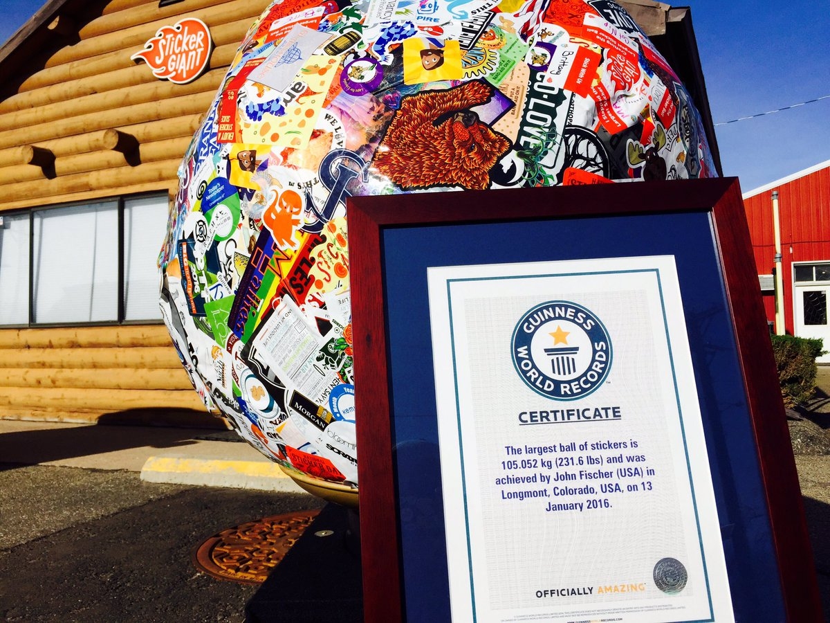 Saul the #LargestStickerBall is officially the @GWR holder now! @CoreyRoseTV @WibbyBrewing @JoyMeadows https://t.co/O3qOmTIV9o