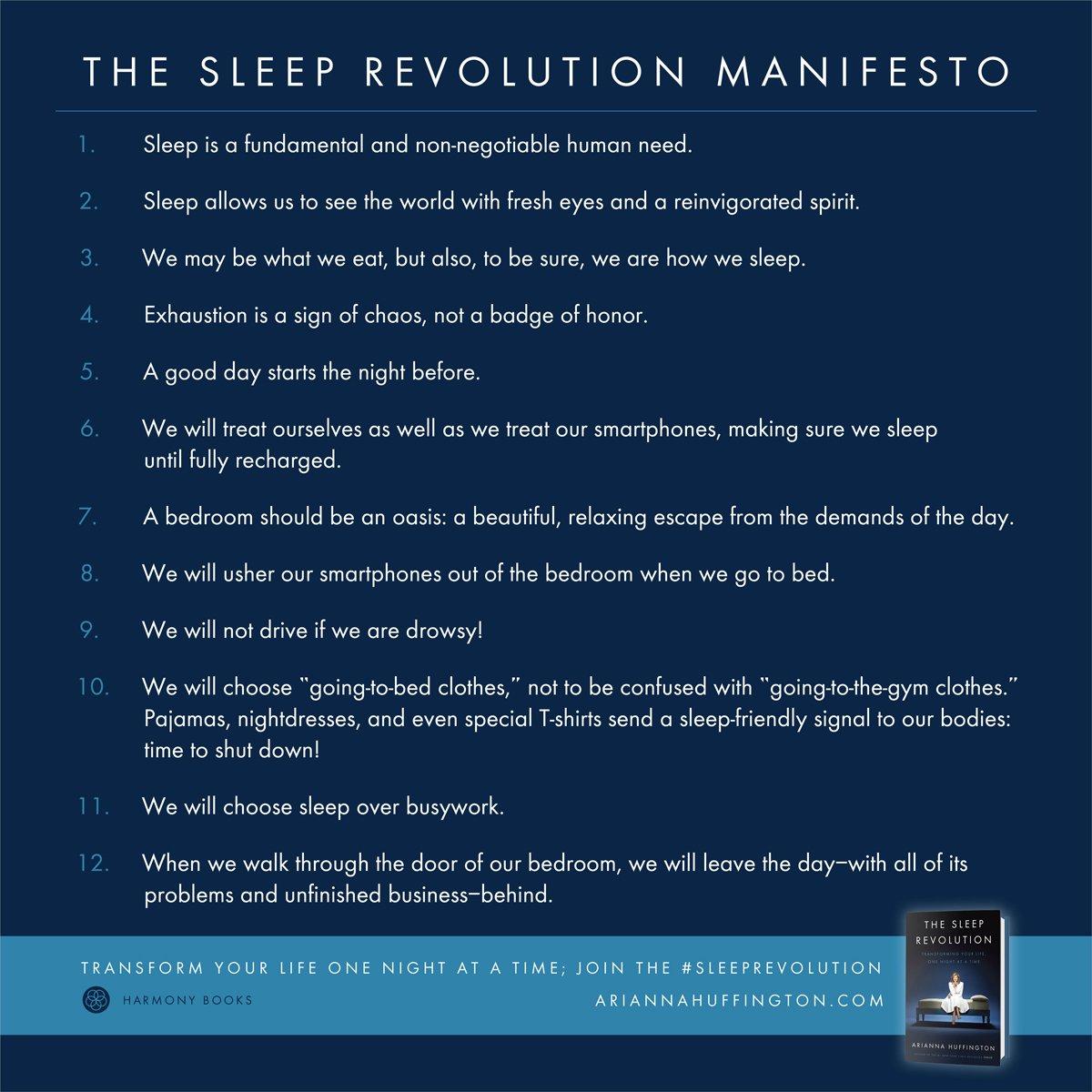 My good friend @ariannahuff has shared 12 tips for a better sleep #SleepRevolution https://t.co/ZZIfs9SPau