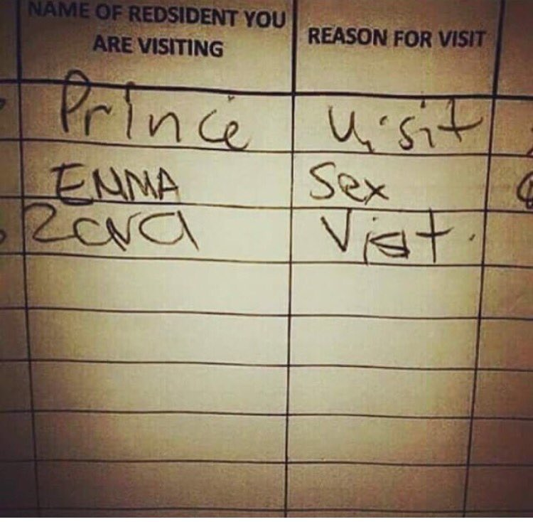 Can all visitors be honest about their reason for visiting like Emma pls.