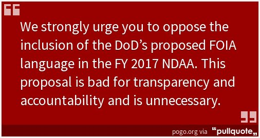 Working with many groups to oppose @DeptofDefense proposed changes to #FOIA via #NDAA. Again https://t.co/anLZOHrXAO https://t.co/l7lBY1A1CM