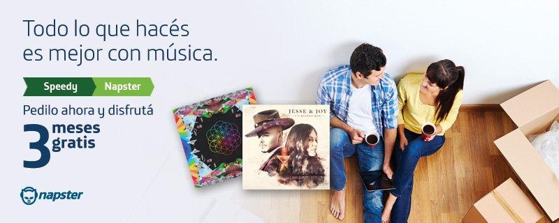 ¡Todo lo que hacés es mejor con música! ¡Disfrutá Napster gratis por tres meses! https://t.co/rvTVgx5d0m https://t.co/Piet6UffCU
