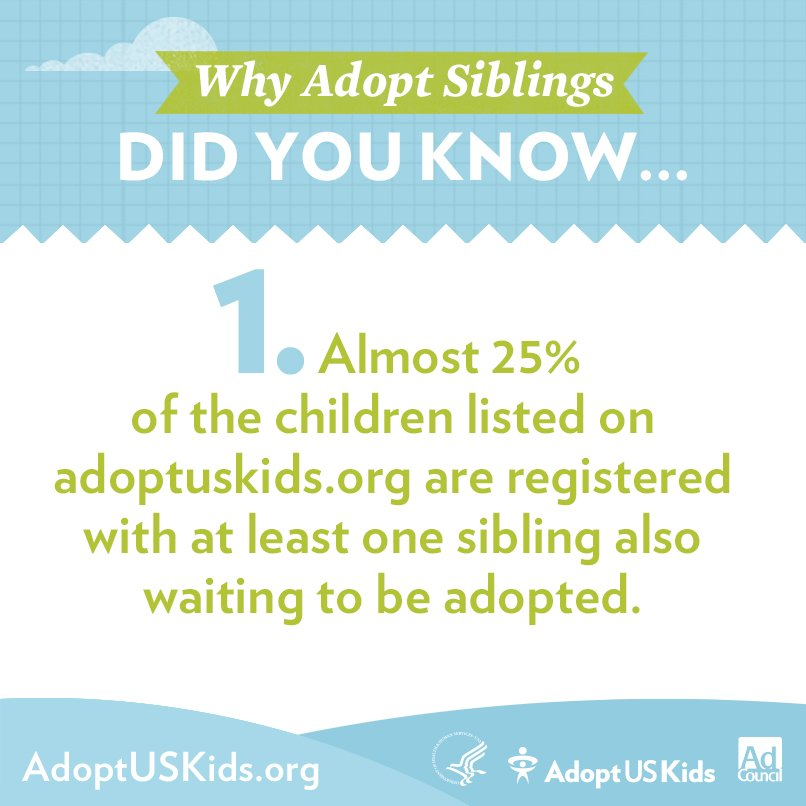 RT @AdoptUSKids: Have you considered adopting siblings from foster care? #adoption https://t.co/LIbLSICRBC