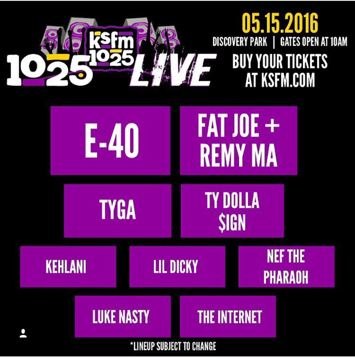 It's about to be LIVE in Sac! Get your tix asap they R already moving fast! #1025live https://t.co/iGH7FmDjSe https://t.co/fVrfizAyzK