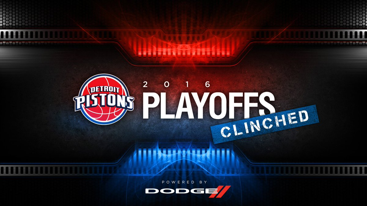 PLAYOFFS: ✔️  #DetroitBasketball https://t.co/xGB2ExUkQ7