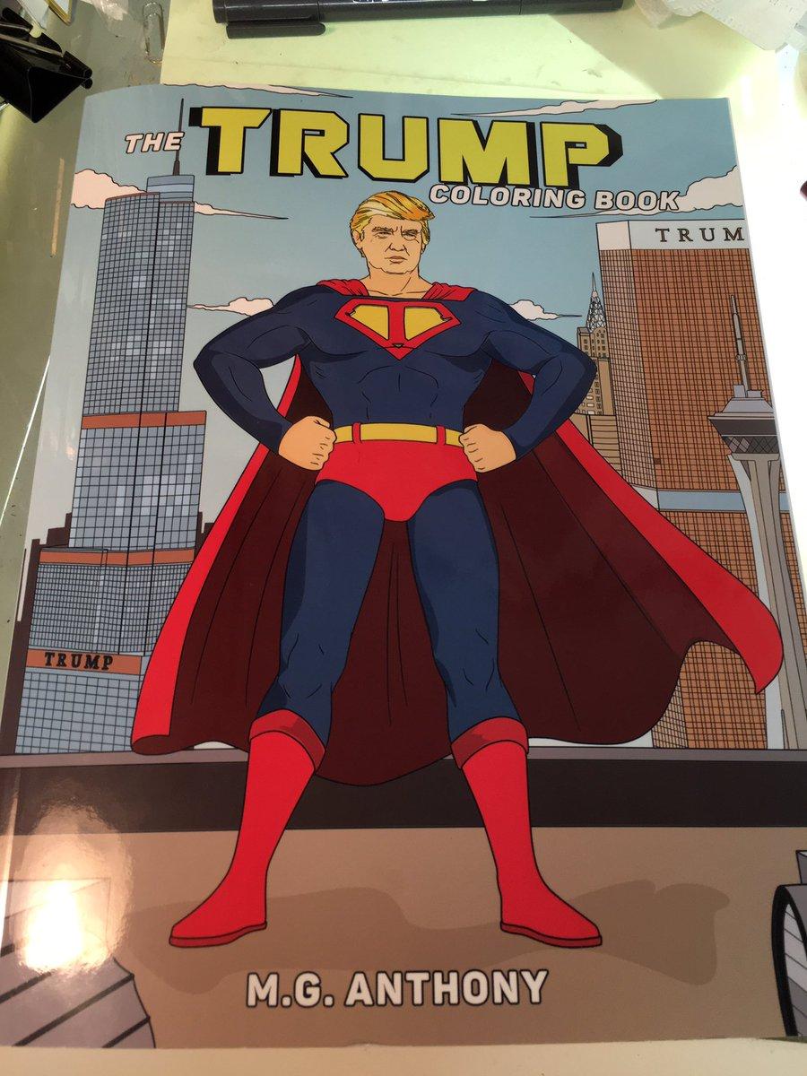 アメリカで買って来たトランプ氏の塗り絵が素晴らしすぎる! https://t.co/JV2q00klVP