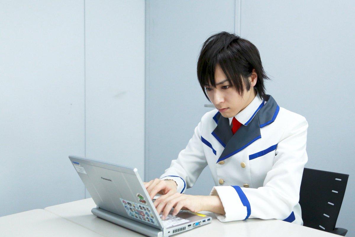 休憩中に『PSO2』のレポートをまとめているイツキ君(笑)#アニメPSO2