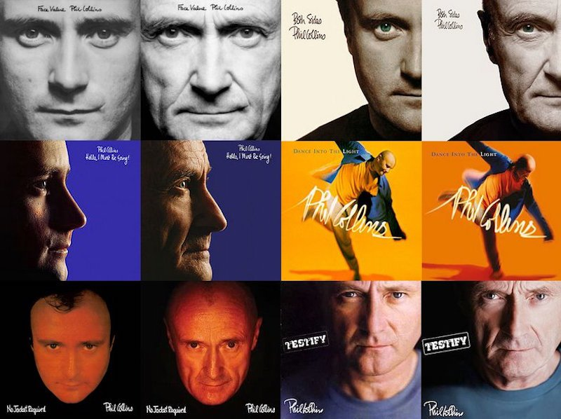 Phil Collins Reshot All His Original Album Covers for the 2016 Reissues https://t.co/qkT1L9A8xG <3 https://t.co/0Fm0osl1k0