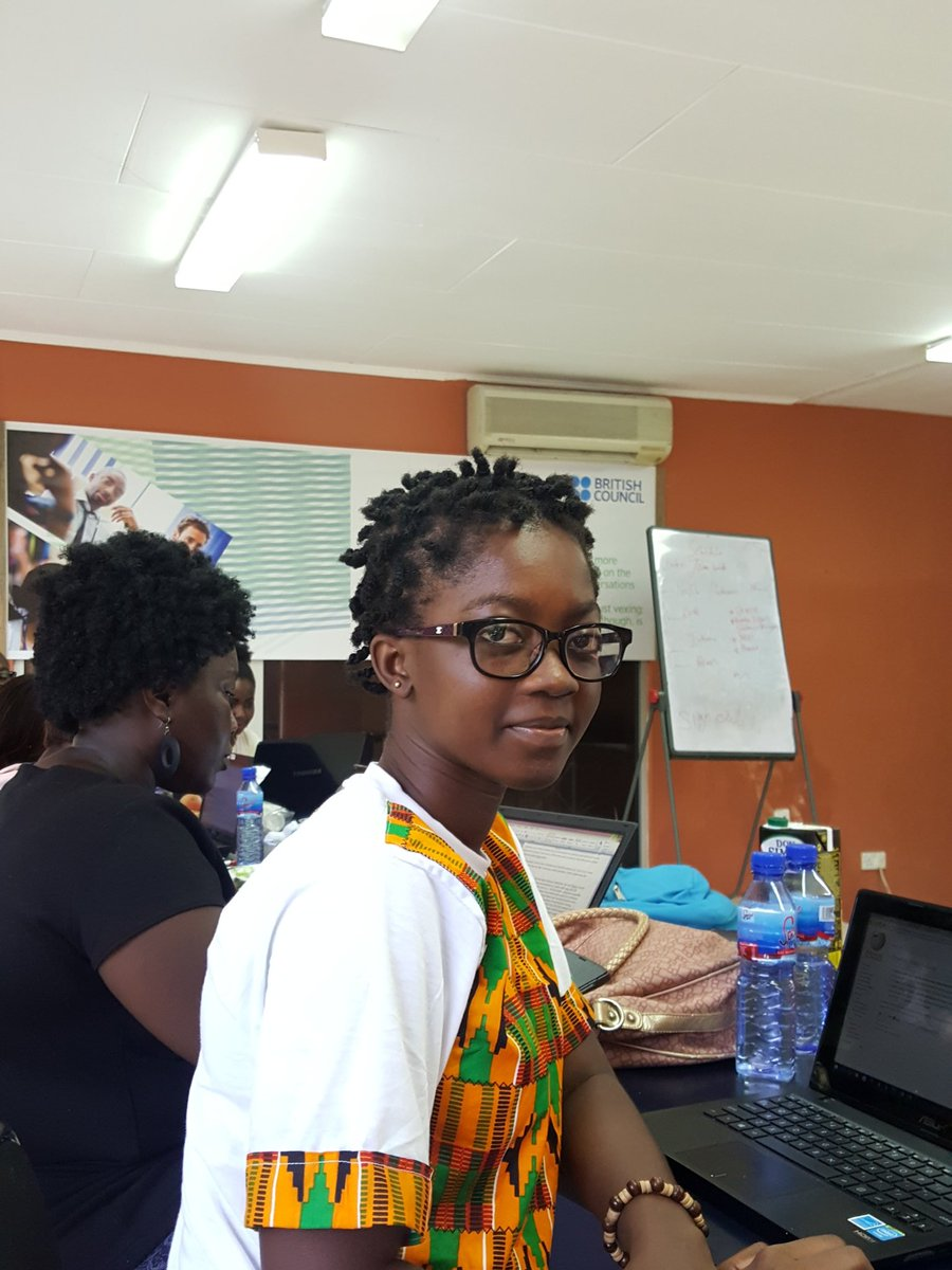 #ArtAndFeminism #editathon. Putting women on @Wikipedia. @moicuddlez  chose @ethelcofie