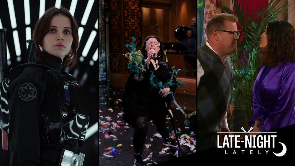 Late-Night Lately: Colbert on 'Star Wars', Melissa McCarthy's Lip Sync, Corden's Opera